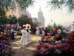Flower Market Along The Seine