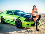 Hot Mustang Chick