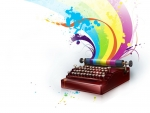 Rainbow typewriter