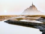 Morning Fog at Mont St. Michel, France