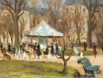 In the park by pictura Marcel Dyf
