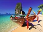 Phra-Nang Beach, Krabi, Thailand
