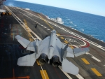 Russian MiG-29 on an Aircraft Carrier