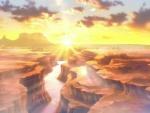 Anime Sunset Canyon