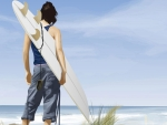 surfer watching