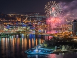 'Fireworks display in Pittsburgh Pa'.....