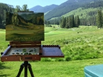 Painting of Panorama Golf Cource, B.C.