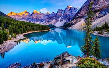 Moraine Lake Banff National Park Lakes Nature