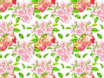 Aple ~ flower and fruit pattern
