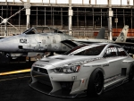 aircraft and car