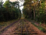 lonely rail track