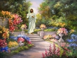 Jesus Walking in the Garden
