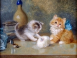 Two Funny Kitten