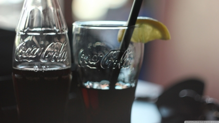 Summer drink - cola, coke, fresh, HD, abstract, photography, wallpaper, summer, drink