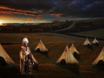 Red Indian and wigwams