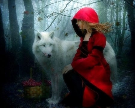 Little Red Riding Hood Fantasy Abstract Background