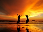Joy in the Sunset