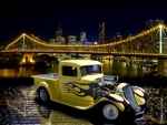 Yellow Hot Rod Truck