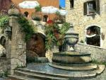 St. Paul de Vence Fountain