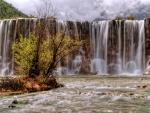 Waterfall in Yulong, China