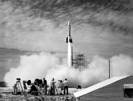 The First Rocket Launch from Cape Canaveral - rocket, cool, fun, space