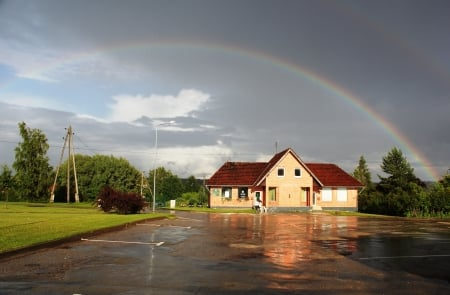 Rainbow - summer, rainbows, nature, sky
