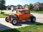 Orange Ford Hot Rod