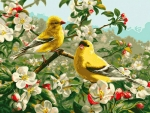 Songbirds in Spring