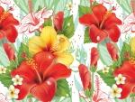 Hibiscus Plumeria Blooms