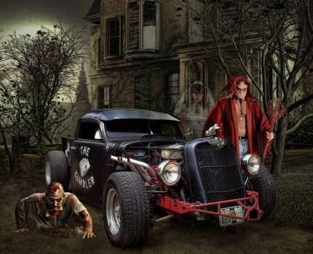 Hot Rod Halloween - hot rod, street rod, ford, car