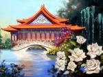 China White Roses