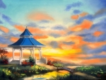 Gazebo Sunset