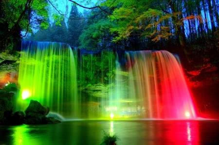 Rainbow waterfalls