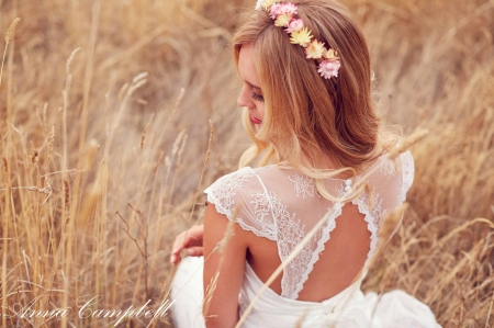 Softness Beauty ♥ - photogrpahy, girl, bride, beauty, beautiful, woman, field, softness