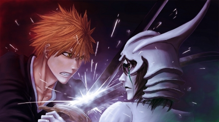 Ichigo Vs Ulquiorra - Espada, Hollow, Anime, Bleach, Manga, Fake Karakura Town Arc, Fourth, Cuatro, Substitute Shinigami, Bankai, Arrancar, Ulquiorra Cifer, Kurosaki Ichigo