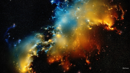 Space Explosion - stars, space, bright, constelations, galaxies, NASA
