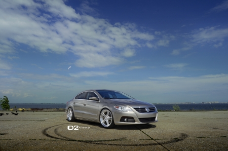 VW-Passat - Silver, VW, Custom Wheels, 4 Door