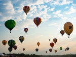 Sky Dotted with Hot Air Balloons