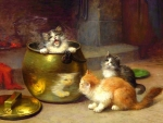 Kittens & Copper Pot