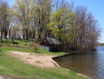 Edinboro lake beach in May