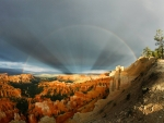 Rainbows and Rays over Bryce Canyon