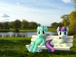 3D Lyra and Bonbon Bench