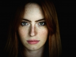 Red Head with Green eyes