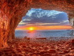Sunset on a Beach Cave, San Gregorio, California