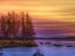 lake sunset splendor hdr