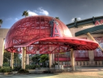 helmet roof at angels stadium in anaheim hdr