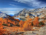 spectacular autumn mountains hdr