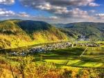 riverside town of ellenz-poltersdorf germany hdr