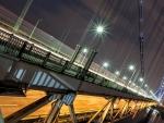 fantastic night view of george washington bridge hdr