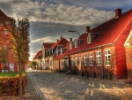 wonderful cobblestones street hdr